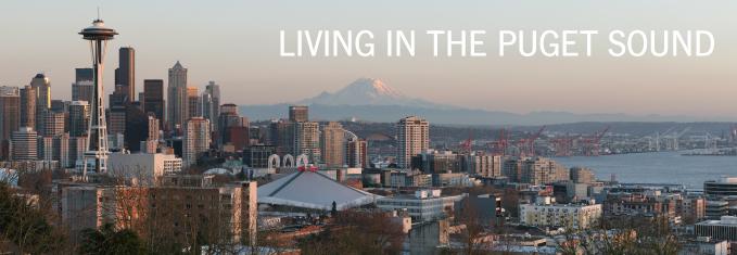 Seattle and Mount Rainier skyline
