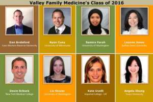 Valley Family Medicine Class of 2016 roster