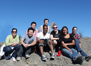 Class of 2014 (L to R): Kristin Parker (Chief), James Lee, Telly Russell, Jennifer Pense, Leticia Maragh, Eli Moreno (Chief); Back (L to R): Johnny Shum, Adam Stephenson