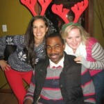 Class of 2014 colleagues at 2013 Christmas gathering, L to R: Eli Moreno, Telly Russell, Jennifer Pense