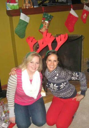 Classmates, Jennifer Pense and Eli Moreno having fun at resident 2013 Christmas gathering