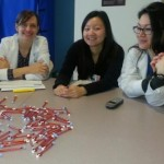 In anticipation of learning about pediatric meds - VFM interns (L to R): Kate Uvelli, Angela Zhang, Leanne Jones