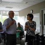 New Intern, Dr. Tess Lang meeting Dr. Gary Kelsberg, faculty
