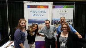 Photo of VFM in Kansas City. From left to right - Drs. Rudisill (Faculty), Pham (Chief Resident), Jungwirth (2nd Year Resident), Pedroza (Medical Director), and Maitre (Faculty)